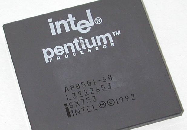 Първите процесори Pentium се произвеждаха по 800-нанометрова технология и работеха на 60 MHz